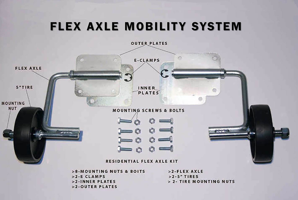flex axle mobility system residential kit pet carrier no nuisince